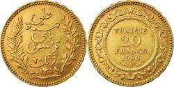 World Coins - Coin, Tunisia, Ali Bey, 20 Francs, 1900, Paris, , Gold, KM:227