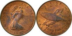 World Coins - Coin, Isle of Man, Elizabeth II, 1/2 Penny, 1977, Pobjoy Mint,