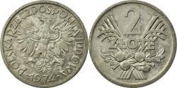 World Coins - Coin, Poland, 2 Zlote, 1974, Warsaw, , Aluminum, KM:46