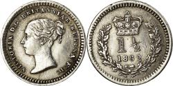 World Coins - Coin, Great Britain, Victoria, 1-1/2 Pence, 1862, London, , Silver