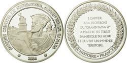 World Coins - France, Medal, Jacques Cartier, Découverte du Canada, History,