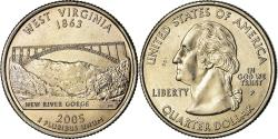 Us Coins - Coin, United States, West Virginia, Quarter, 2005, U.S. Mint, Philadelphia