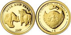 World Coins - Coin, Palau, Bull - Bear, Dollar, 2007, , Gold
