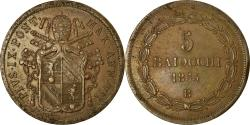 World Coins - Coin, ITALIAN STATES, PAPAL STATES, Pius IX, 5 Baiocchi, 1853, Bologna