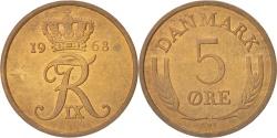 World Coins - Denmark, Frederik IX, 5 Öre, 1968, Copenhagen, , Bronze, KM:848.1