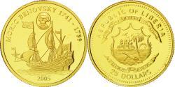 World Coins - Coin, Liberia, Moric Benovsky, 25 Dollars, 2005, , Gold