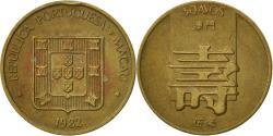World Coins - Macau, 50 Avos, 1982, , Brass, KM:22