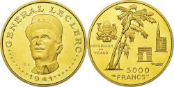 World Coins - Coin, Chad, Général Leclerc, 5000 Francs, Undated (1970), Paris, , Gold