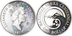 World Coins - Coin, New Zealand, Elizabeth II, Dollar, 1987, , Silver, KM:65a