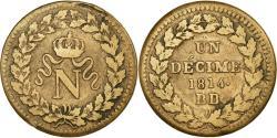 World Coins - Coin, France, Napoléon I, Decime, 1814, Strasbourg, , Bronze, KM:700