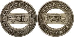 Us Coins - United States, Token, Wichita Motor Bus Company