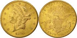 Us Coins - Coin, United States, Liberty Head,$20, 1890, San Francisco, AU(50-53), KM 74.3