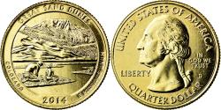 Us Coins - Coin, United States, Great Sand Dunes, Quarter, 2014, U.S. Mint, , Gold