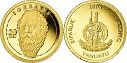 World Coins - Coin, Vanuatu, Socrate, 20 Vatu, 2008, , Gold