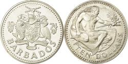 World Coins - Coin, Barbados, 10 Dollars, 1974, Franklin Mint, Proof, , Silver, KM:17a