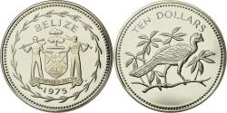 World Coins - Coin, Belize, 10 Dollars, 1975, Franklin Mint, , Silver, KM:45a