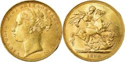 World Coins - Coin, Great Britain, Victoria, Sovereign, 1880, , Gold, KM:752