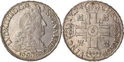 World Coins - Coin, France, Louis XIV, 1/2 Écu aux 8 L, 1/2 Ecu, 1690, Rennes,