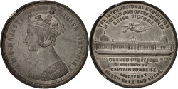 World Coins - Great Britain, Queen Victoria, 1862 International Exhibition, Sciences