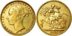 World Coins - Coin, Australia, Victoria, Sovereign, 1876, Sydney, , Gold, KM:7