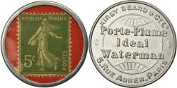 World Coins - Coin, France, Porte-Plume, Waterman, Kirby, 5 Centimes, Timbre-Monnaie