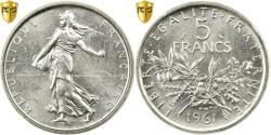 Ancient Coins - Coin, France, Semeuse, 5 Francs, 1961, Paris, PCGS, MS66, Silver, KM:926