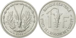 World Coins - West African States, Franc, 1961, , Aluminum, KM:E3