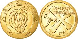 World Coins - Coin, Katanga, 5 Francs, 1961, , Gold, KM:2a