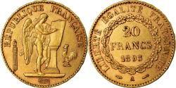 World Coins - Coin, France, Génie, 20 Francs, 1893, Paris, , Gold, KM:825