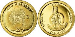 World Coins - Coin, Vanuatu, Sand drawing, 20 Vatu, 2011, , Gold