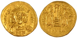 Ancient Coins - Constantine IV 668-685, Solidus, Constantinople, , Gold, 4.46