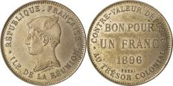 World Coins - Coin, Réunion, Franc, 1896, ESSAI, , Copper-nickel, KM:E2