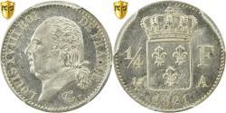Ancient Coins - Coin, France, Louis XVIII, Louis XVIII, 1/4 Franc, 1821, Paris, PCGS, MS64