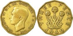 World Coins - Coin, Great Britain, George VI, 3 Pence, 1940, , Nickel-brass, KM:849