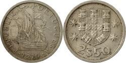 World Coins - Coin, Portugal, 2-1/2 Escudos, 1975, , Copper-nickel, KM:590
