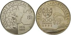 World Coins - Coin, Portugal, 200 Escudos, 1991, , Copper-nickel, KM:658