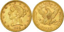 Us Coins - Coin, United States, Coronet Head, $5, Half Eagle, 1898, Philadelphia
