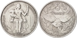World Coins - New Caledonia, 5 Francs, 1952, Paris, , Aluminum, KM:4