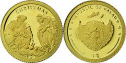 World Coins - Coin, Palau, Christmas, Dollar, 2010, Proof, , Gold, KM:445