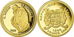 World Coins - Coin, Benin, Le Penseur de Rodin, 1500 Francs CFA, 2007, , Gold