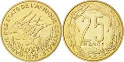 World Coins - CENTRAL AFRICAN STATES, 25 Francs, 1975, Paris, KM #E4, ,...