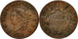 Us Coins - Coin, United States, Coronet Cent, Cent, 1825, U.S. Mint, Philadelphia