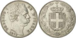 World Coins - Coin, Italy, Umberto I, 5 Lire, 1879, Rome, AU(50-53), Silver, KM:20