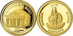 World Coins - Coin, Vanuatu, Panthéon, 20 Vatu, 2009, , Gold