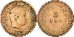 World Coins - Coin, Portugal, Carlos I, 5 Reis, 1898, , Bronze, KM:530