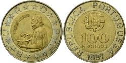 World Coins - Coin, Portugal, Pedro Nunes, 100 Escudos, 1991, , Bi-Metallic, KM:645.2