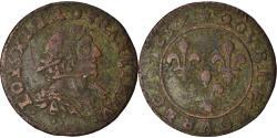 World Coins - Coin, France, Louis XIII, Double Tournois, 1637, Vallée du Rhône,