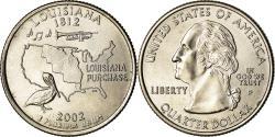 Us Coins - Coin, United States, Louisiana, Quarter, 2002, Philadelphia,