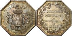 World Coins - France, Token, Banques Provinciales, Comptoir d'Escompte de Lille, 1854