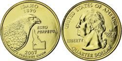 Us Coins - Coin, United States, Idaho, Quarter, 2007, U.S. Mint, , Gold plated